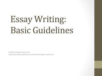 How to make a good essay